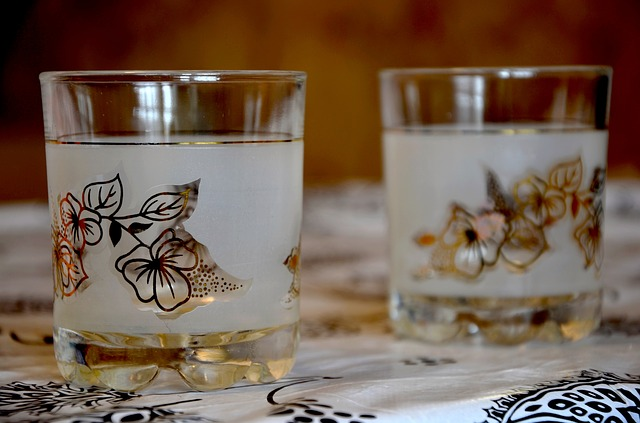 malované sklenice