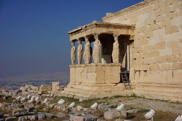 stavba v Aténách