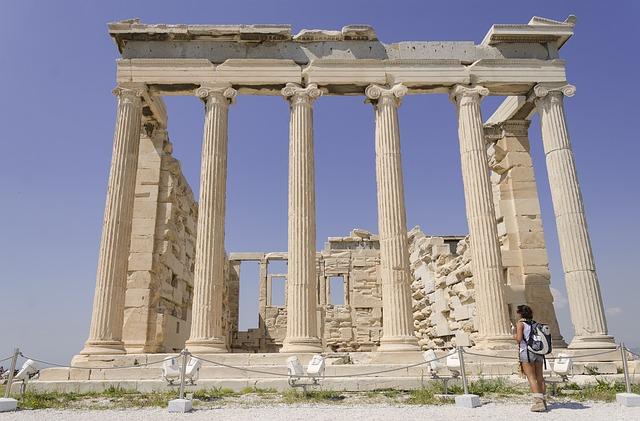 turistka v Řecku
