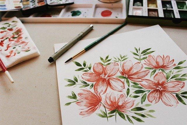 malba květin