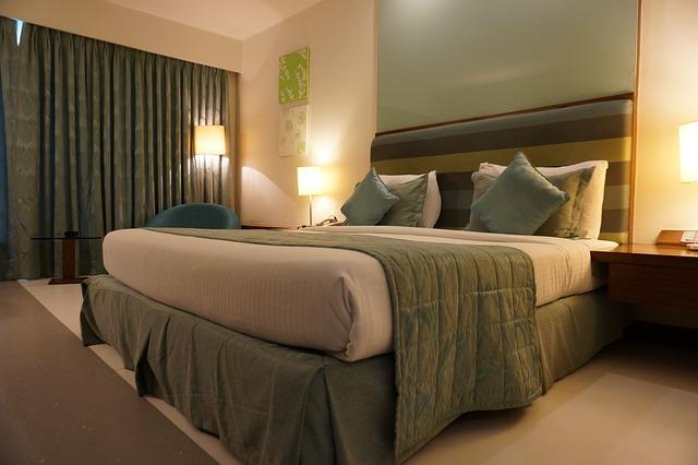 ložnice do zelené barvy